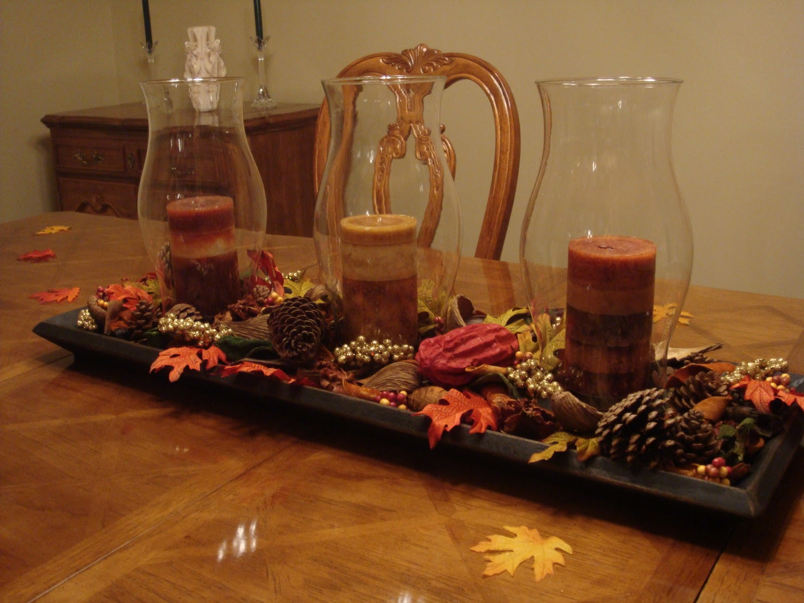 Kitchen Table With Leaf Insert Denver Soup Volunteer Portugal Ponderings My Fall Centerpiece