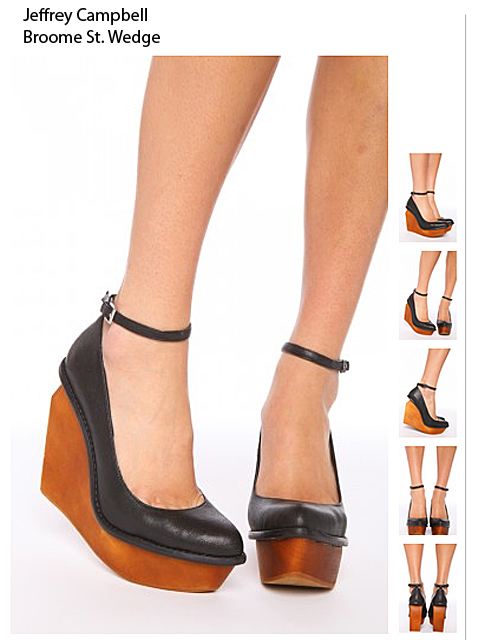 Low Wedge Black Patent Shoes