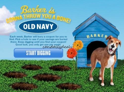 Canadian Daily Deals: Old Navy: $10 off $50 Barker's Bones