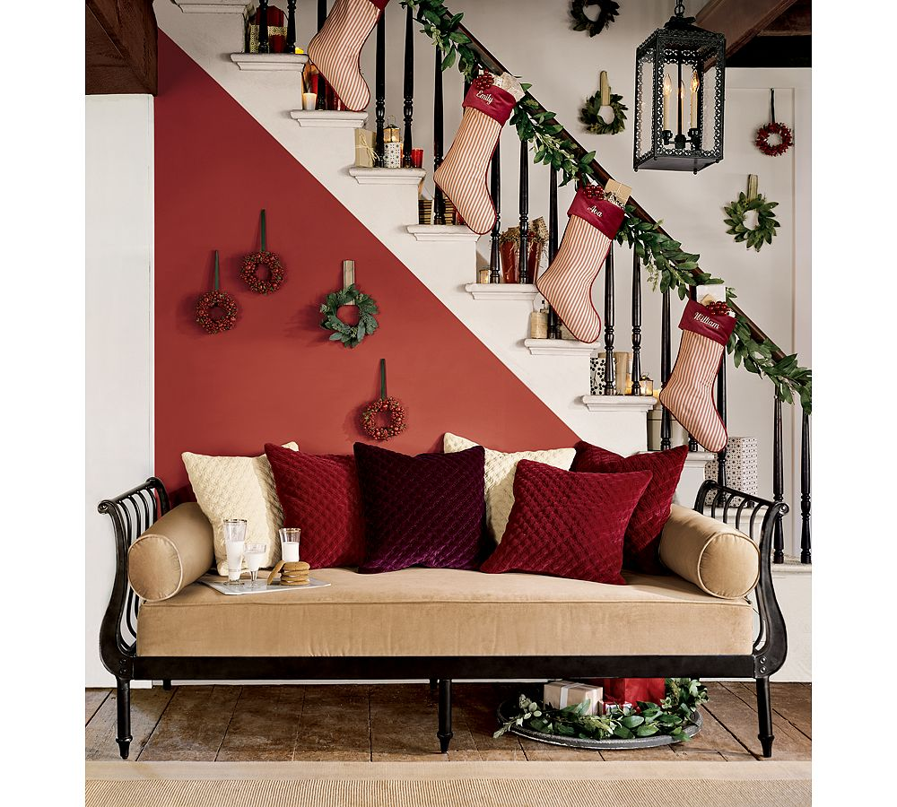 10 Festive Ways to Hang Christmas Stockings jentatertots Even if you can't hang your stockings by the chimney with care, there are still a plethora of ways to display this Christmas essential.