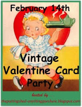 Vintage Valentine Card Party.