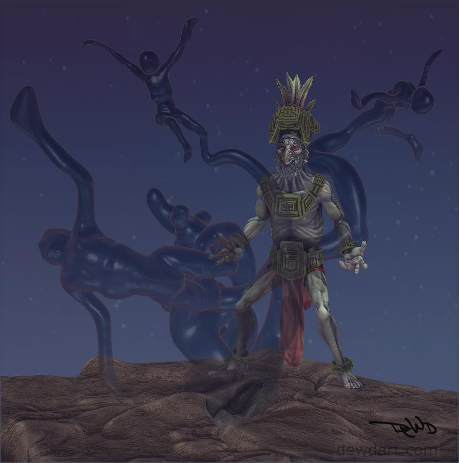Mayan God Of Death Ah ...
