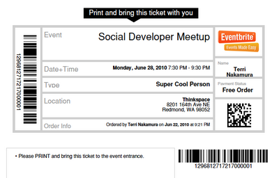 Ticket to Developers Meetup