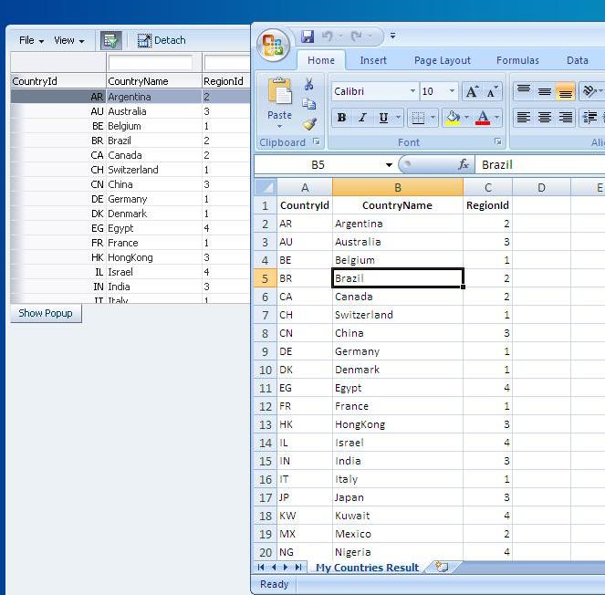 Zeeshan Baig's Blog: Exporting table to Excel in Oracle ADF