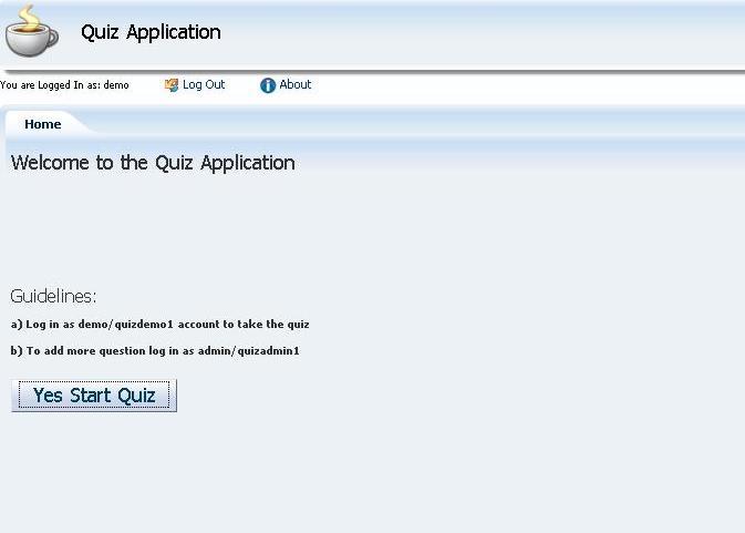 Zeeshan Baig's Blog: Sample code - Quiz Application in Oracle ADF