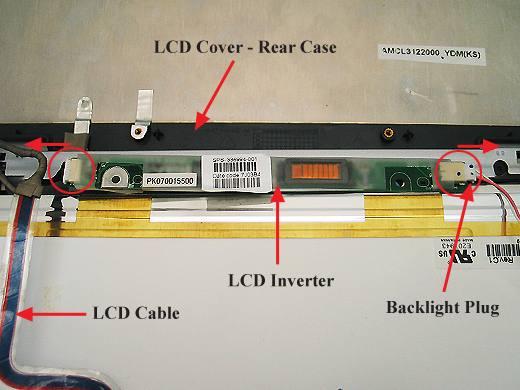 Le rétroéclairage de la dalle LCD semblait en cause. Dans ce cas, le  composant le plus souvent en cause est l inverteur. En regardant de près ce  composant, ... 5accf83cadd5