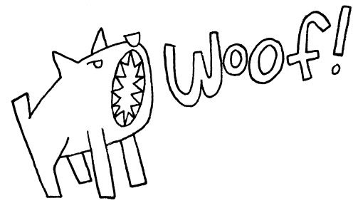 Every Day I Draw a Dog: Barking Dog