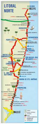 Casa De Praia Em Tabuba Alagoas Mapa Das Praias Do Litoral Norte