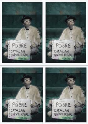 """Pobre catalán universal"". Print Card © Segonquart Studio 2009"