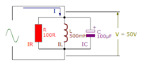parallel RLC circuit connection