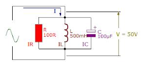 parallel RLC circuit connection