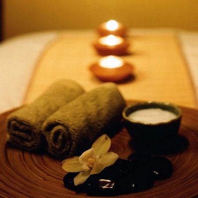 spa day candles