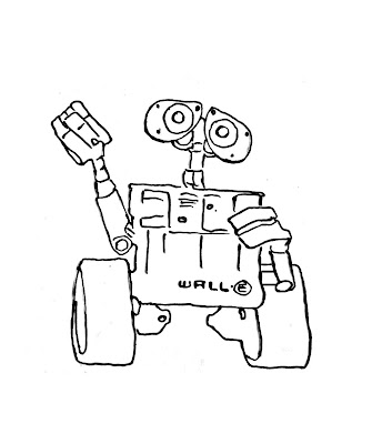 Wall-e glasses coloring pages - Hellokids.com | 400x335