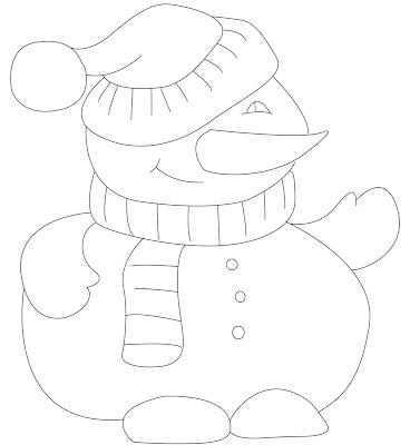 Artis Indonesia Banget Gitu Loh: simple snowman coloring page
