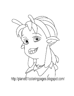 planet 51 coloring pages free - photo#27