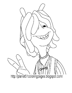planet 51 coloring pages free - photo#22