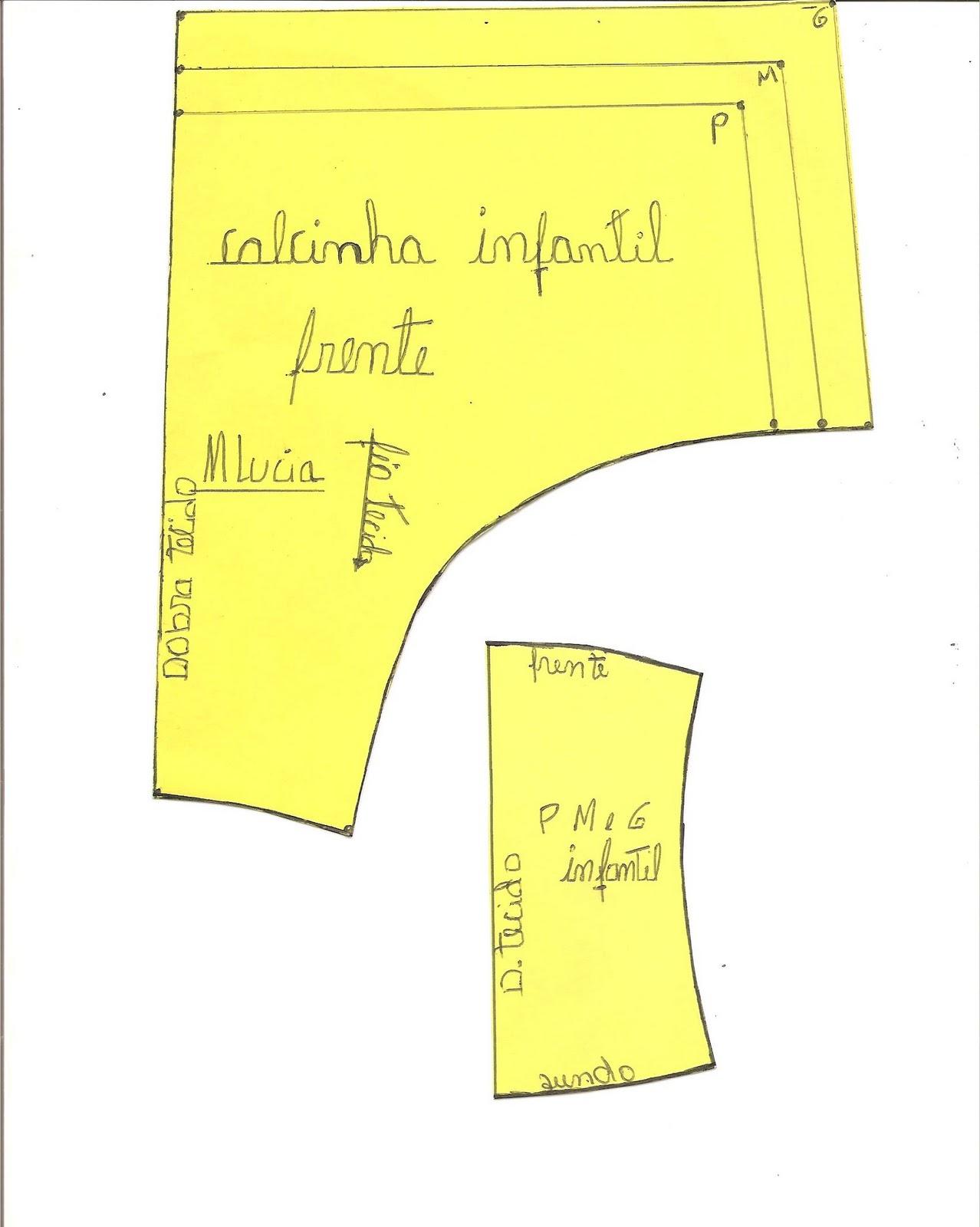 Esquema de modelagem de Biquini Cortininha tamanho M patrn f4ee9f3d04d