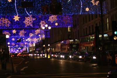 Natal Londres, enfeites de natal, rua de Londres, Londres
