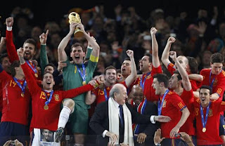 SPAIN, WORLD CHAMPION OF  SOUTH AFRICA 2010
