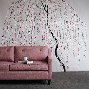 Persian Tea: willow tree wall decal