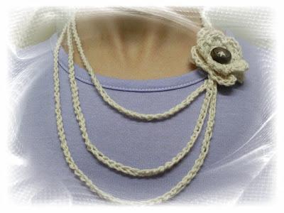 e27a73f78757 Creaciones de Hadas  Collar tejido al crochet.