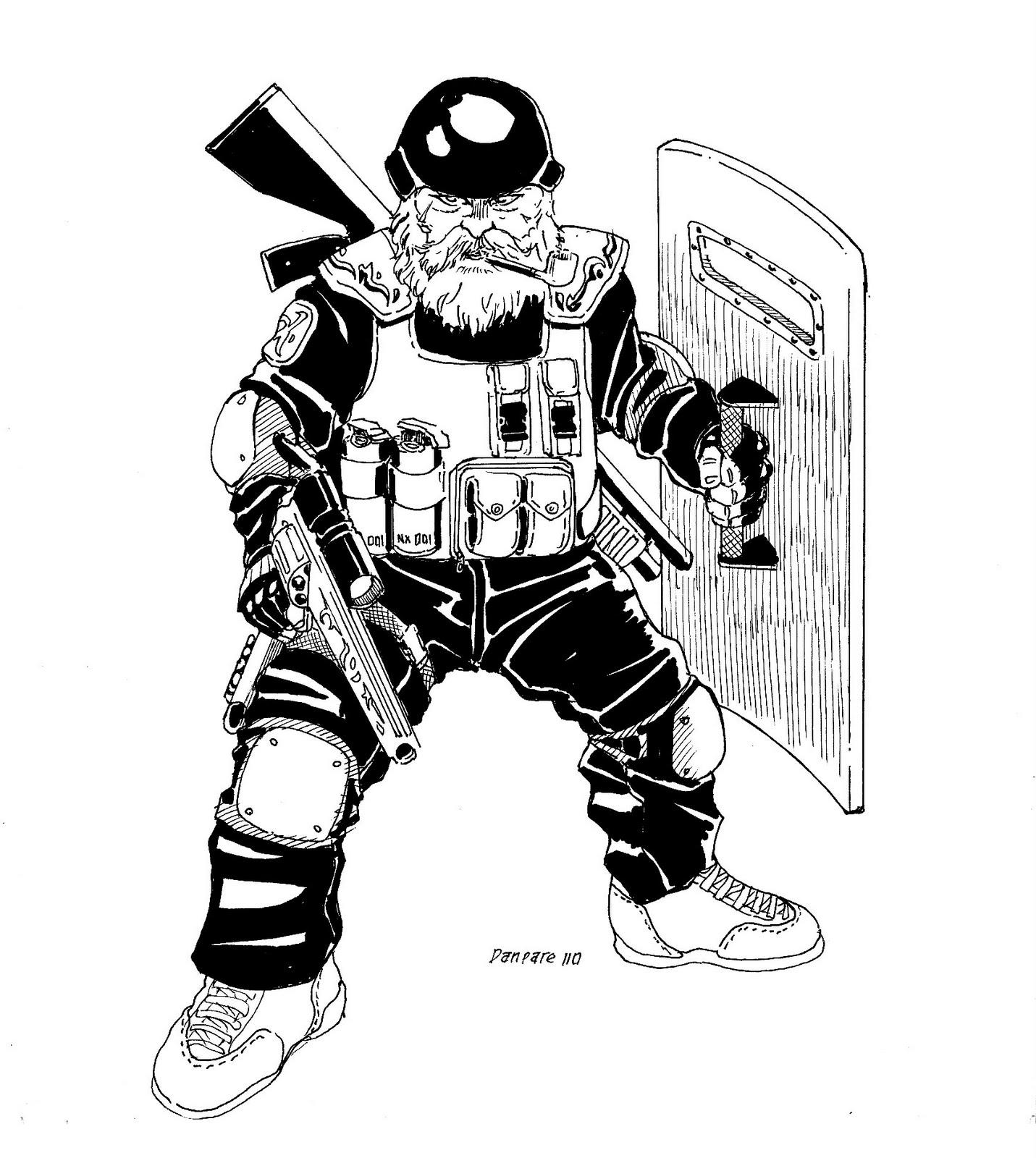 Police Swat Art