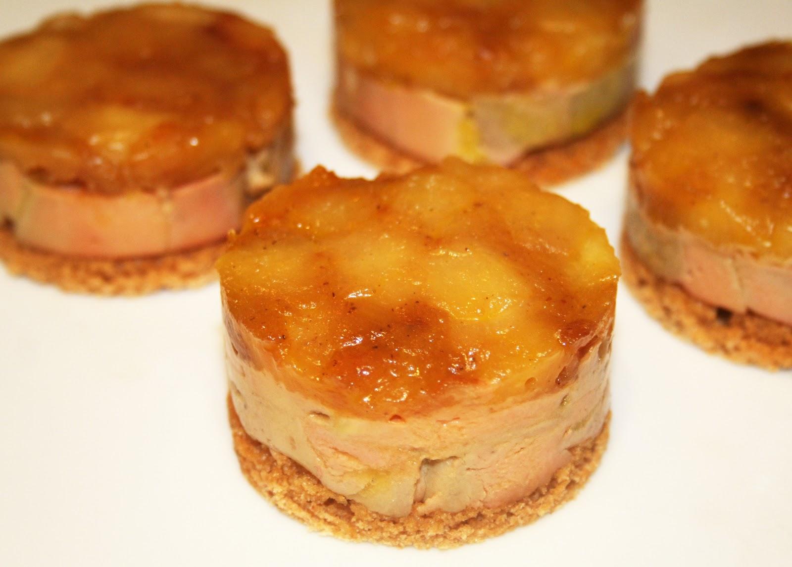 la cuisine de bernard mini tatins de foie gras. Black Bedroom Furniture Sets. Home Design Ideas