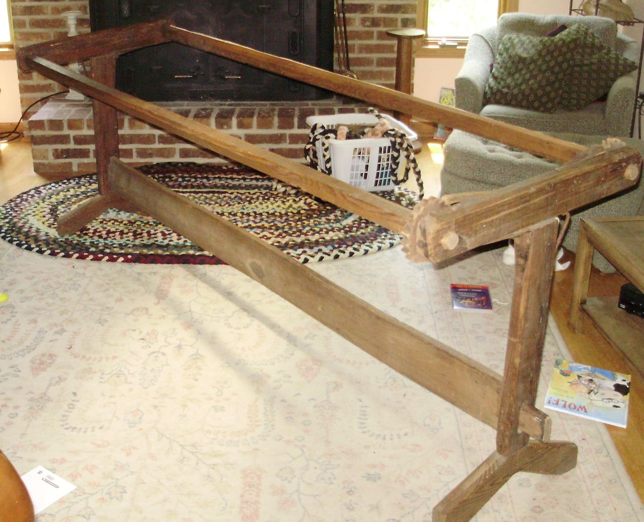 Life of a Domestic Disaster: Antique Quilt Frame