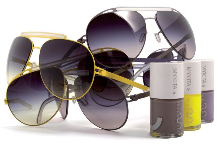 All made up in Mykita and Uslu Airlines limited edition Jet Set aviators