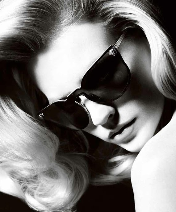 09b2f9659528 January Jones in Versace sunglasses for summer 2011 ad campaign ...