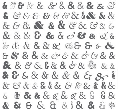 different ways of writing ampersand