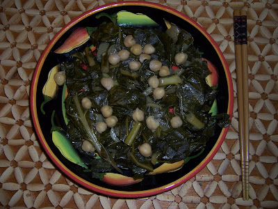 chickpeas collard greens