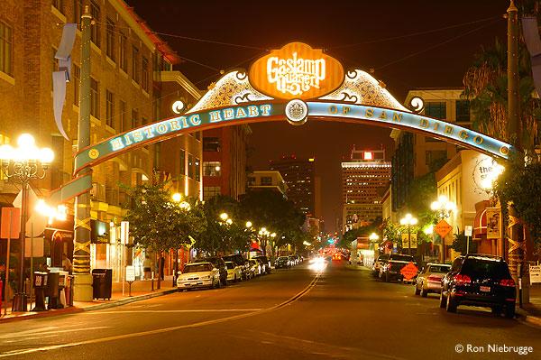Downtown San Diego Gaslamp Quarter ~ Gun Journey