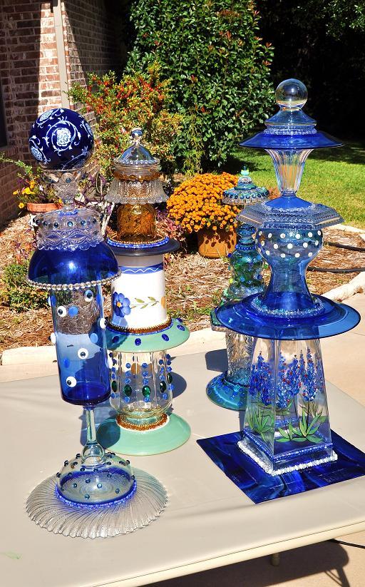 Kathleen Dalrymple - Glass Artist: Garden Ornaments on Backyard Ornaments id=79071