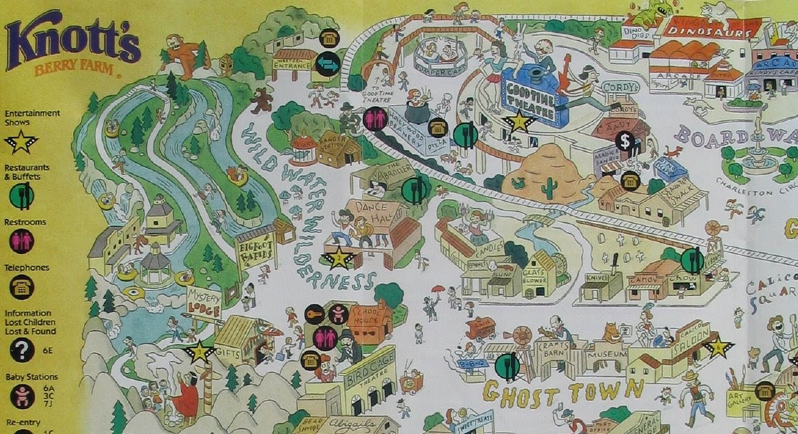 NewsPlusNotes: Knott's Berry Farm 1997 Map on canada's wonderland map, kings island map, wonderland park map, cedar point map, magic kingdom map, disneyland map, six flags map, california adventure map, magic mountain map, kings dominion map, pink's hot dogs map, islands of adventure map, kentucky kingdom map, universal studios hollywood map, ghost town in the sky map, mt. olympus water & theme park map, oceans of fun map, adventure city map, legoland map, carowinds map,