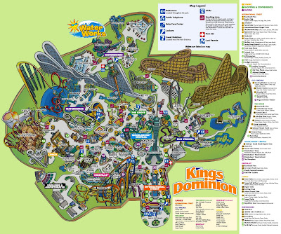 Kings Dominion Map NewsPlusNotes: Kings Dominion 2008 Park Map Kings Dominion Map