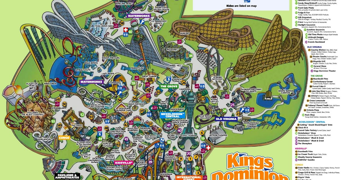 Disney Hollywood Studios 2013 Theme Park Map Roller Coaster Amusement