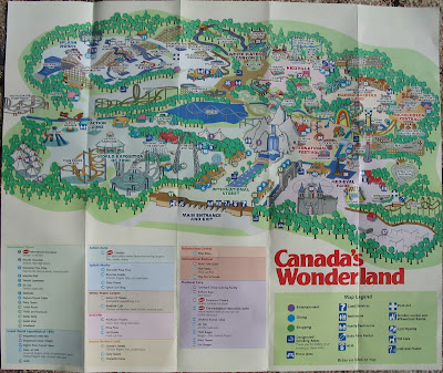 Map Of Canadas Wonderland 2017.Newsplusnotes Canada S Wonderland 2007 Park Guide