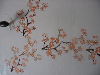 mes cr ations peinture murale par pochoirs. Black Bedroom Furniture Sets. Home Design Ideas