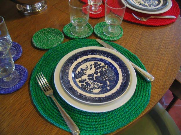 Puerta al sur vestir la mesa con individuales y posavasos - Individuales para mesa ...