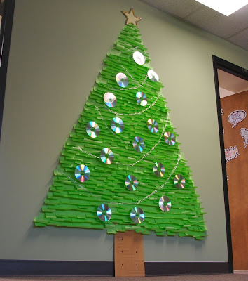 I Decided My Office At Wsu Needed A Little Holiday Cheer So Made This Post It Note Christmas Tree Last Week Took 10 Packages Of Lime Green Its