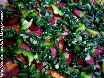 Cardamom Hills Spinach Amp Pepperoni Pizza With A Hot 3