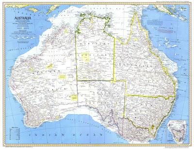 Feroviarii Harta Geografica Australia