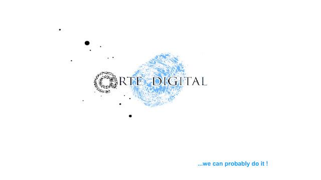 arte digital logo with slogan