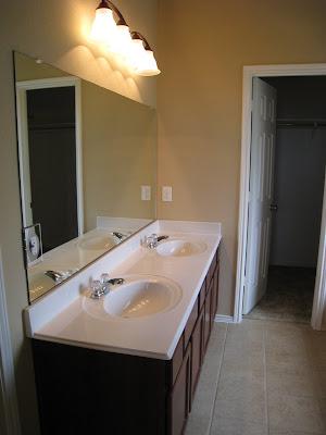 Bathroom Mirror Quick Fix ~ DIY - Shanty 2 Chic