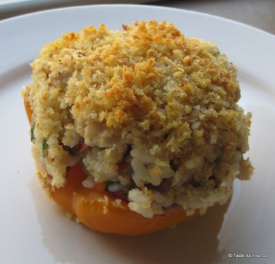 Stuffed Bell Peppers with Ground Turkey and Sun-Dried Tomatoes | Taste As You Go