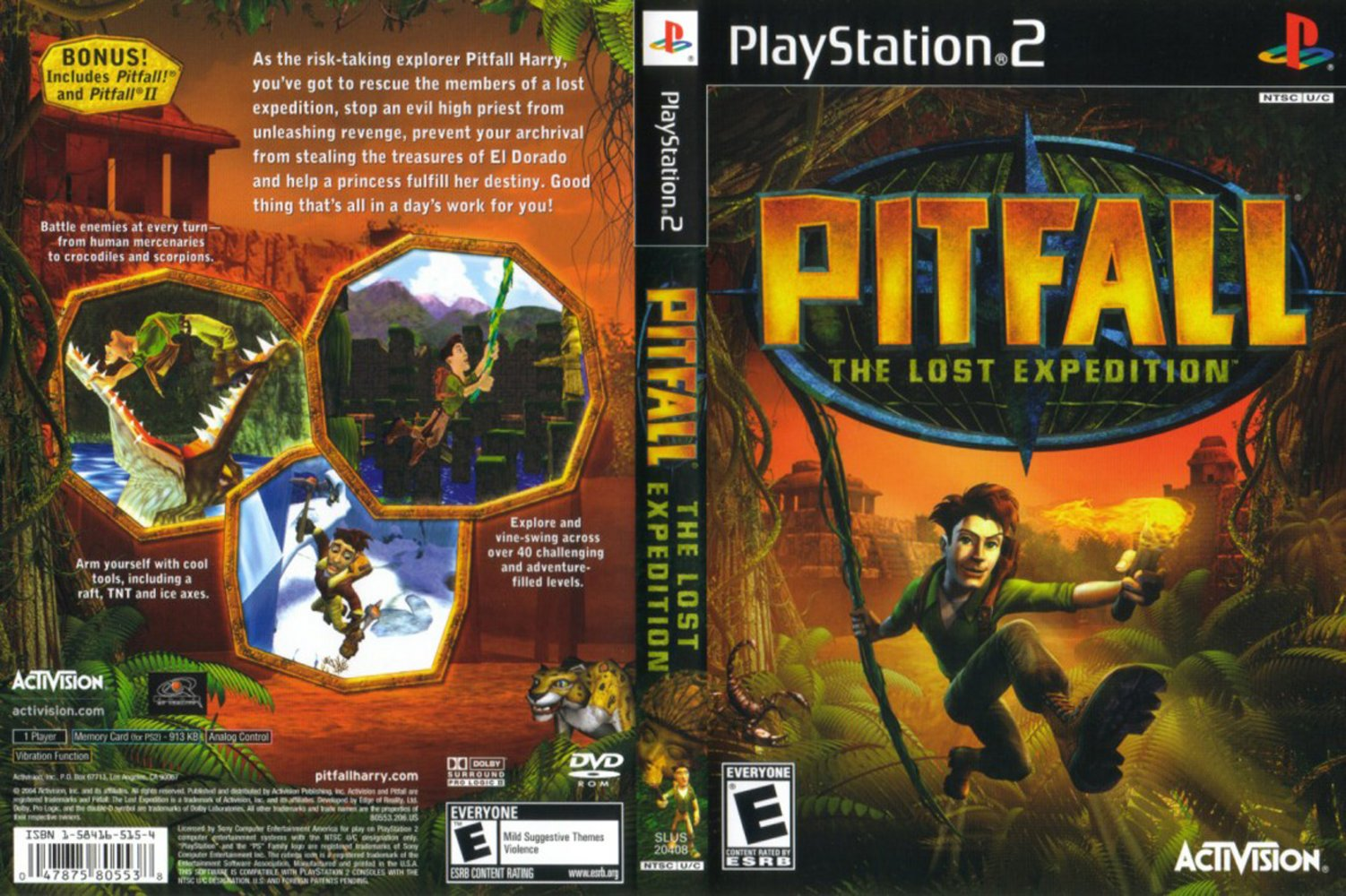 Jc Video Ps2 Pitfall The Lost Expedition