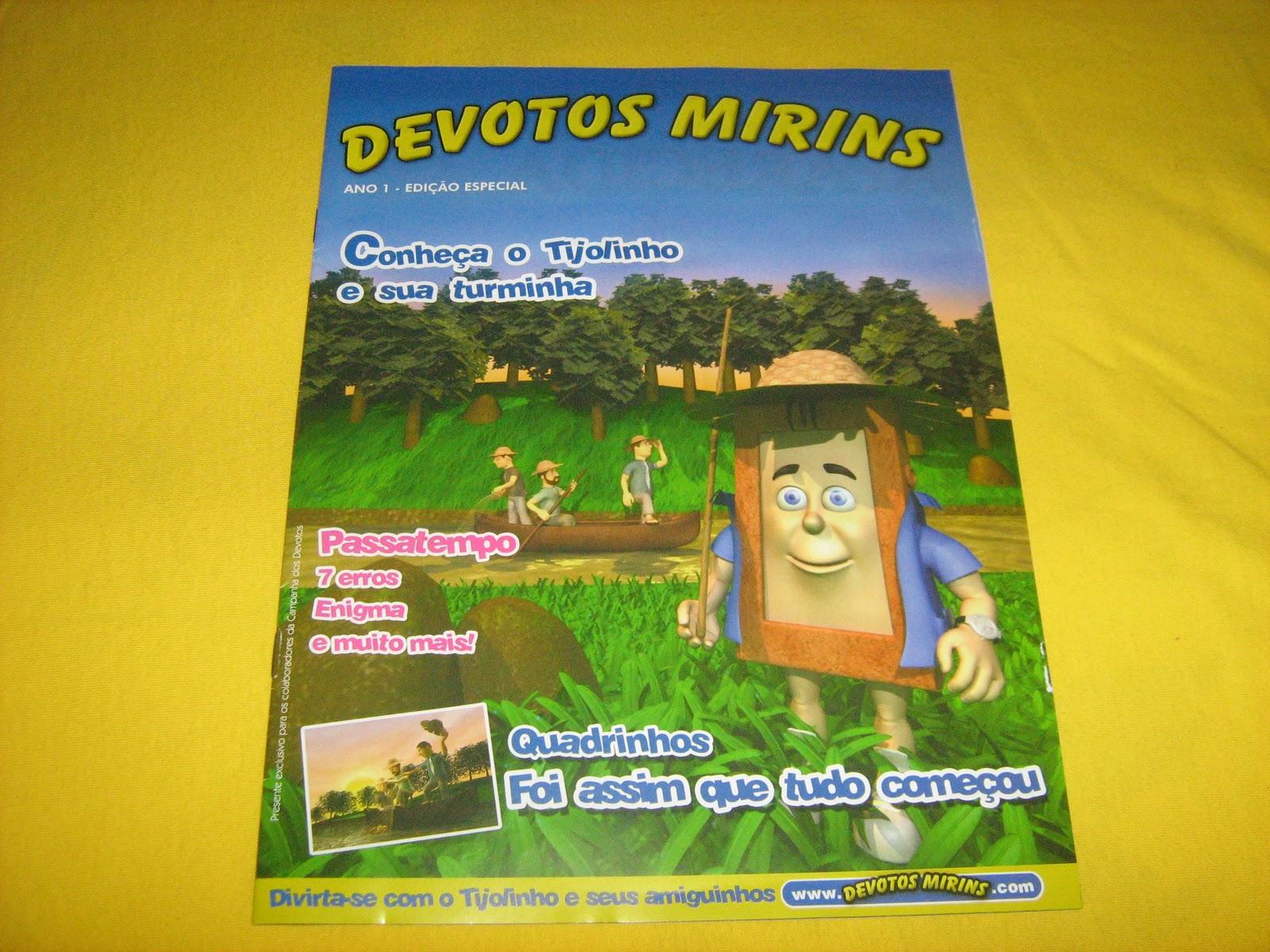 Joy Amostras   Brindes  Revistinha Devotos Mirins 69c00711a44