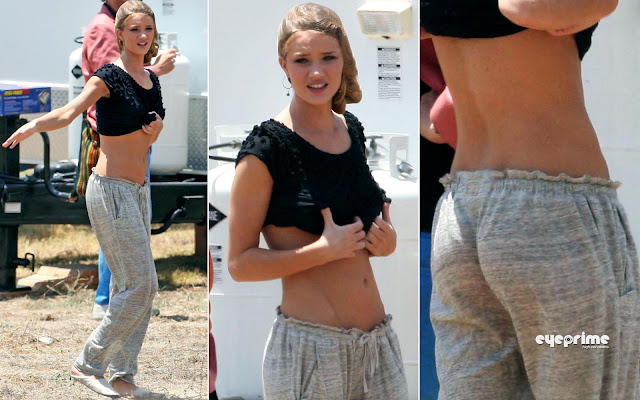 rosie eyeprime 66 Rosie Huntington Whiteley  pictured on the Set of Transformers 3 in L.A, Jul 2, 2010