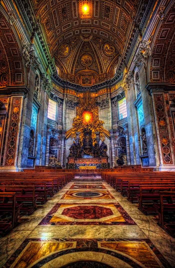 Last Flight Out Photography: Inside St. Peter's Basilica